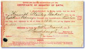 replacement birth Certificates